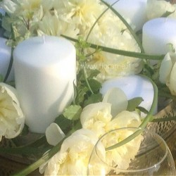 PEONIES CANDLES SCROLLS - centerpieces / composition