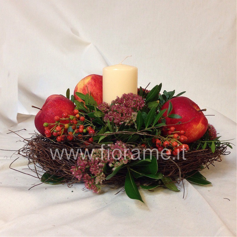 APPLES AND CANDLES-centerpieces-from € 19 to 33