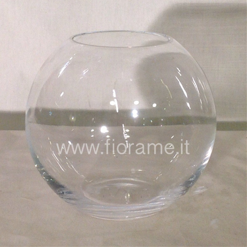 VASE BALL D23,5 H19,5-clear glass